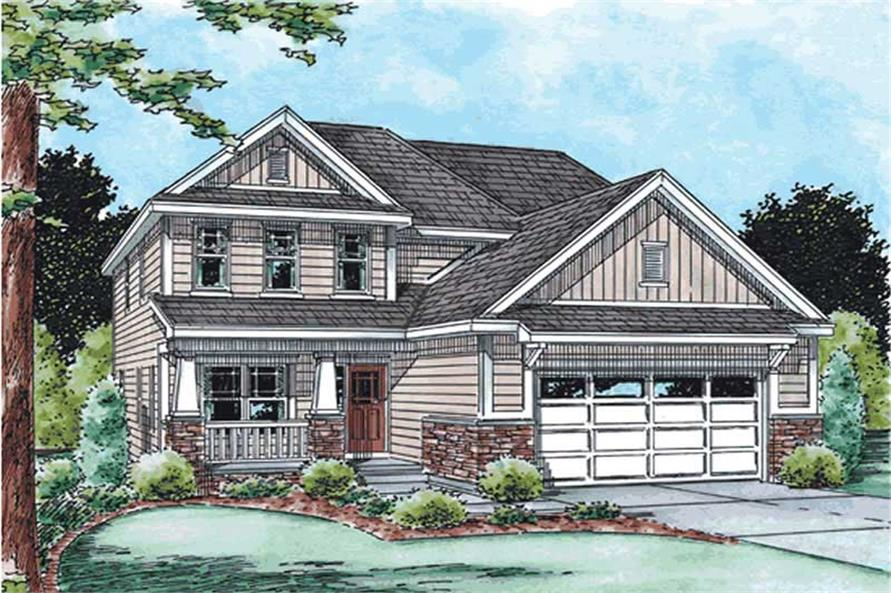 3-Bedroom, 1660 Sq Ft Country House Plan - 120-2108 - Front Exterior