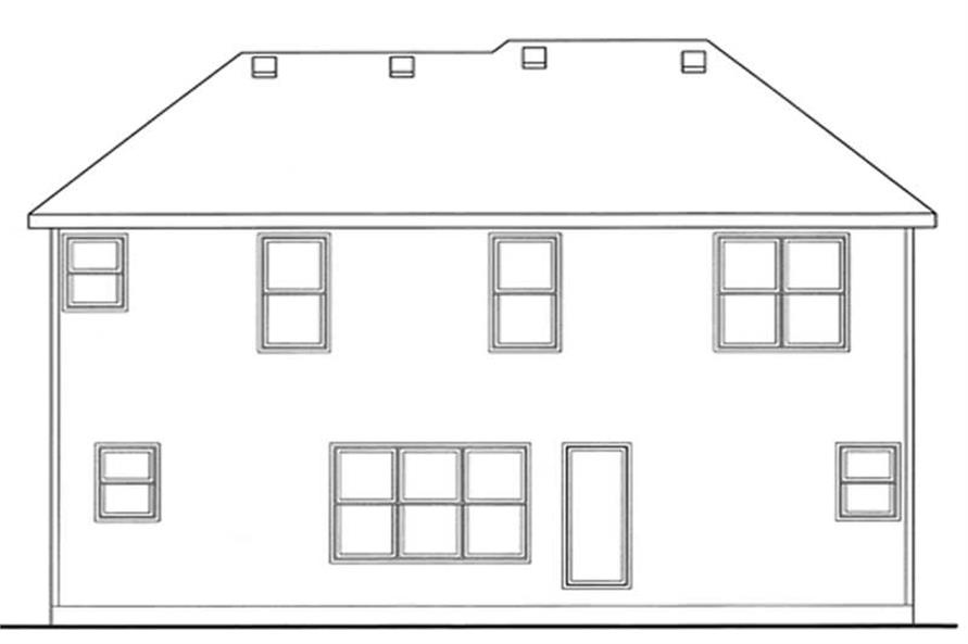 Home Plan Rear Elevation of this 3-Bedroom,1660 Sq Ft Plan -120-2108