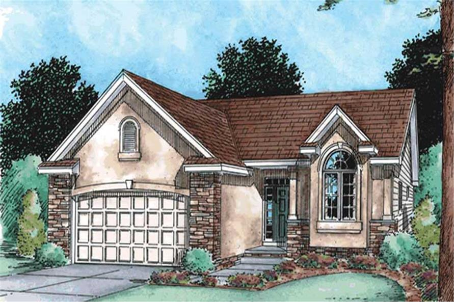 2-Bedroom, 1275 Sq Ft Ranch Home Plan - 120-2109 - Main Exterior