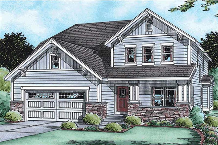 3-Bedroom, 2168 Sq Ft Country House Plan - 120-2112 - Front Exterior