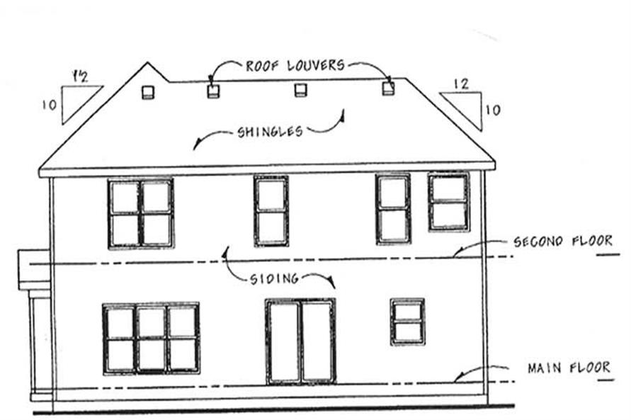 Home Plan Rear Elevation of this 3-Bedroom,2168 Sq Ft Plan -120-2112