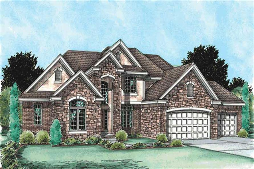 4-Bedroom, 2651 Sq Ft Traditional House Plan - 120-2113 - Front Exterior