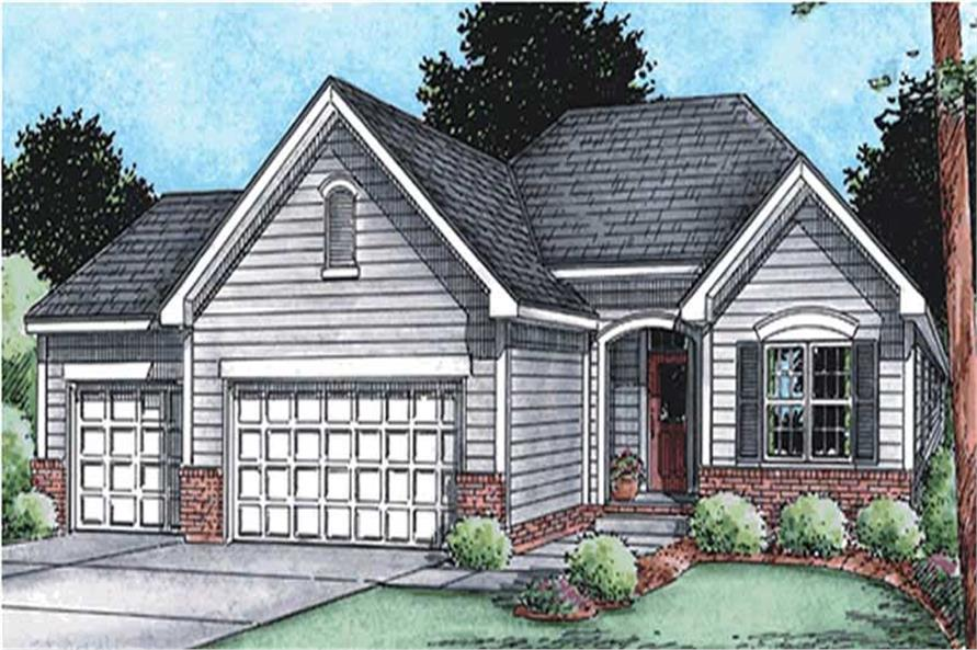 3-Bedroom, 1755 Sq Ft Ranch Home Plan - 120-2114 - Main Exterior