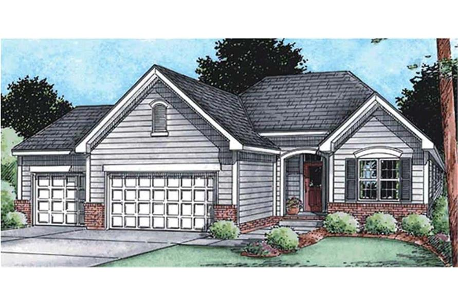 Front View of this 3-Bedroom,1755 Sq Ft Plan -120-2114