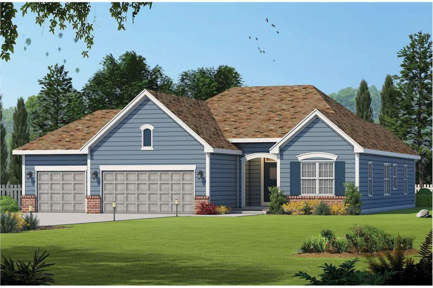 3-Bedroom, 1755 Sq Ft Ranch Home - Plan #120-2114 - Main Exterior