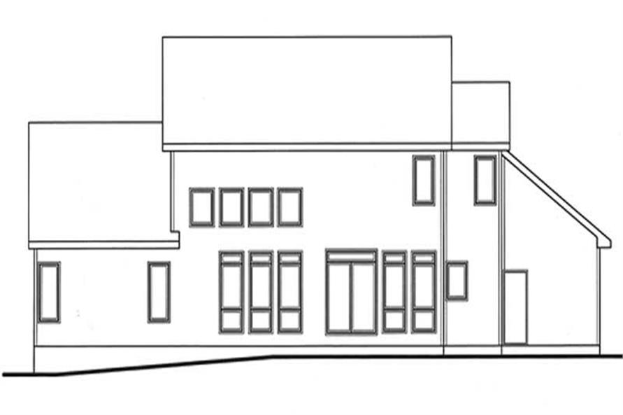 Home Plan Rear Elevation of this 4-Bedroom,2704 Sq Ft Plan -120-2115