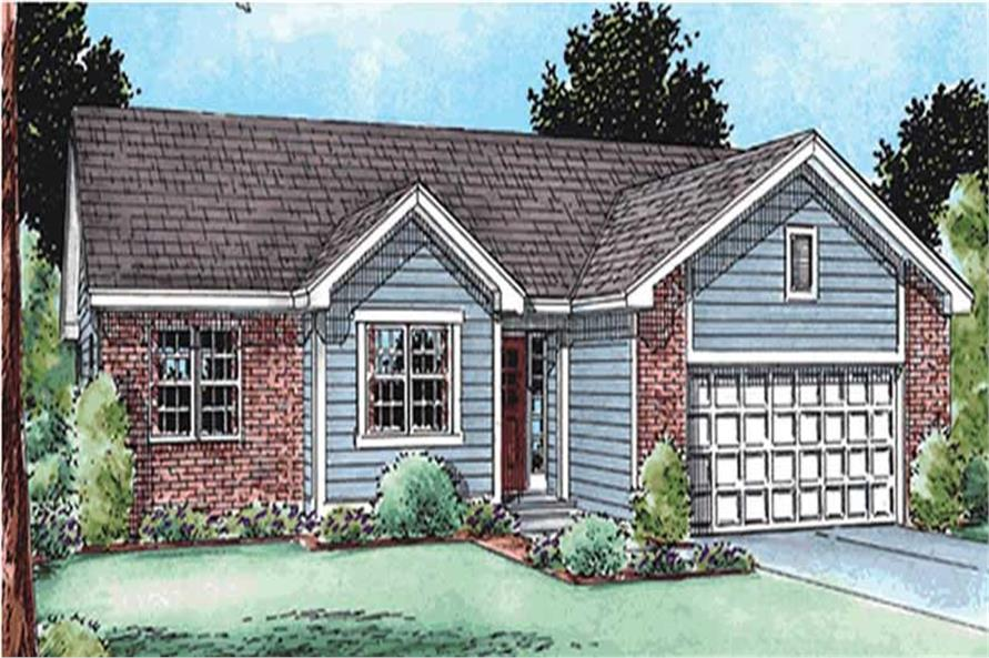 3-Bedroom, 1719 Sq Ft Ranch Home Plan - 120-2118 - Main Exterior