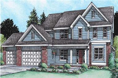 4-Bedroom, 2797 Sq Ft Ranch Home Plan - 120-2119 - Main Exterior