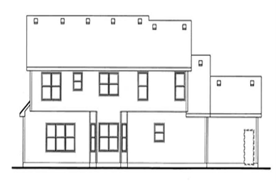 Home Plan Rear Elevation of this 4-Bedroom,2797 Sq Ft Plan -120-2119