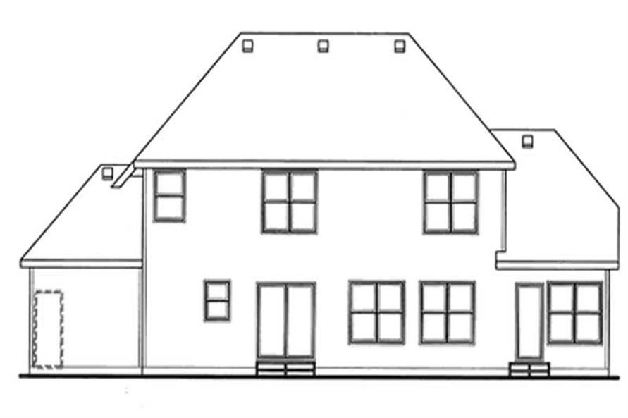 Home Plan Rear Elevation of this 4-Bedroom,2376 Sq Ft Plan -120-2120