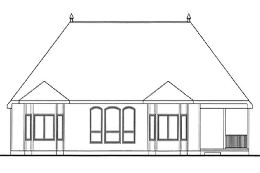 Home Plan Rear Elevation of this 3-Bedroom,2598 Sq Ft Plan -120-2122