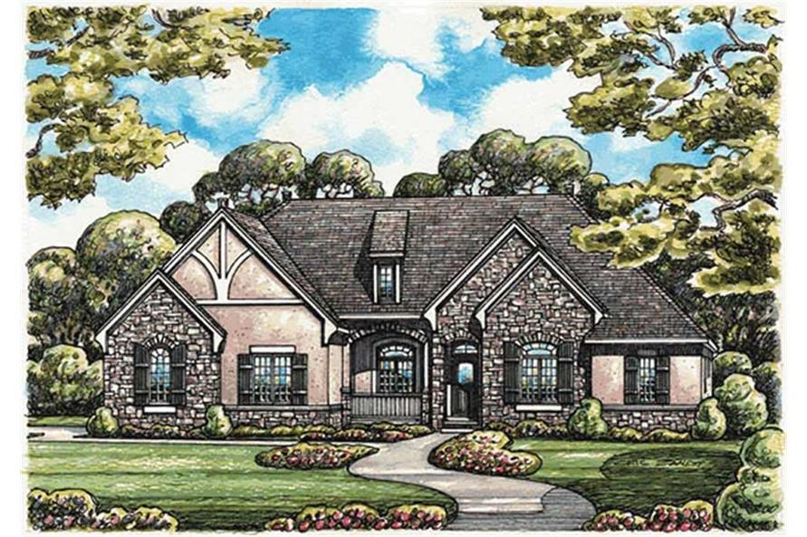 Home Plan Rendering of this 3-Bedroom,2598 Sq Ft Plan -2598
