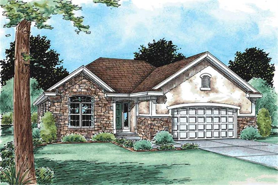 3-Bedroom, 1482 Sq Ft Small House Plans - 120-2125 - Main Exterior