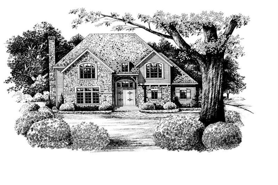 4-Bedroom, 3222 Sq Ft French Home Plan - 120-2126 - Main Exterior