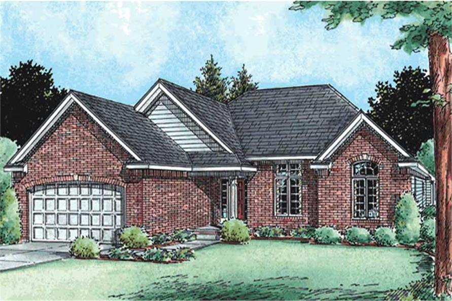 3-Bedroom, 1820 Sq Ft Ranch House Plan - 120-2128 - Front Exterior