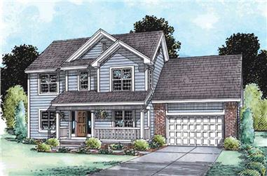 4-Bedroom, 2609 Sq Ft Country House Plan - 120-2130 - Front Exterior