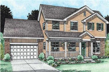 4-Bedroom, 2501 Sq Ft Country Home Plan - 120-2133 - Main Exterior
