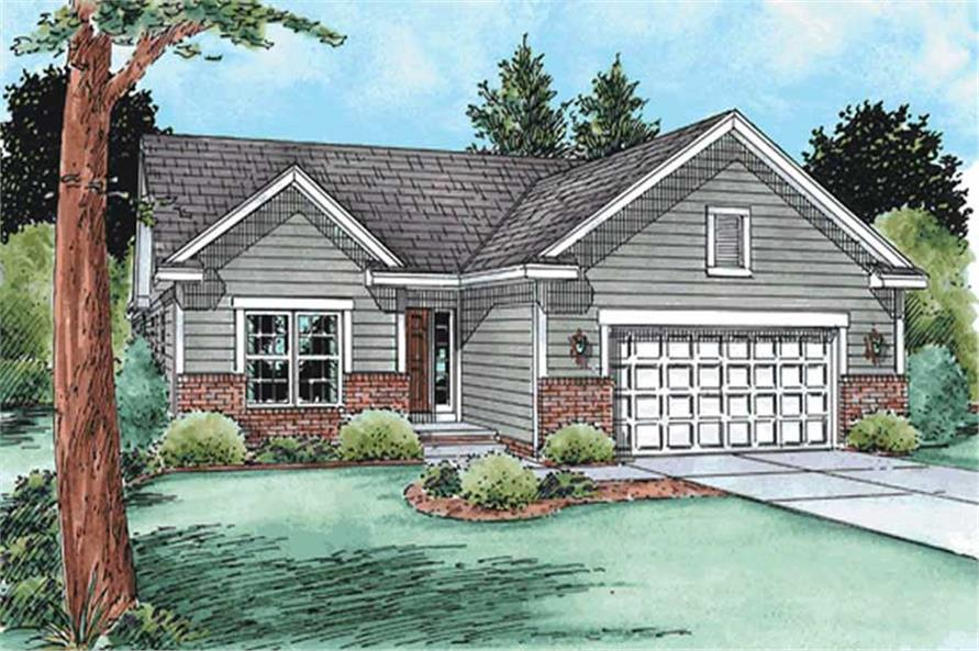 3-Bedroom, 1482 Sq Ft Small House Plans - 120-2135 - Main Exterior