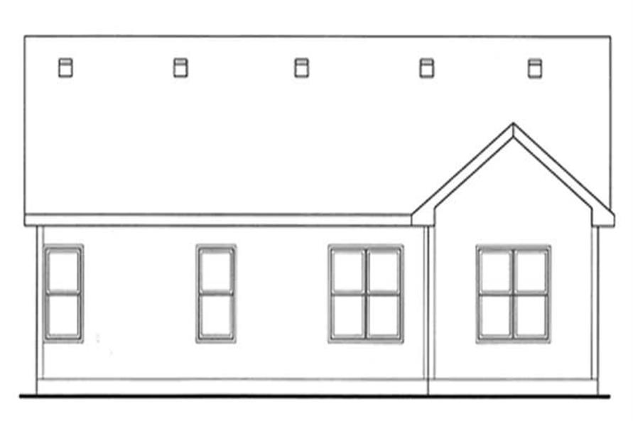 Home Plan Rear Elevation of this 3-Bedroom,1482 Sq Ft Plan -120-2135