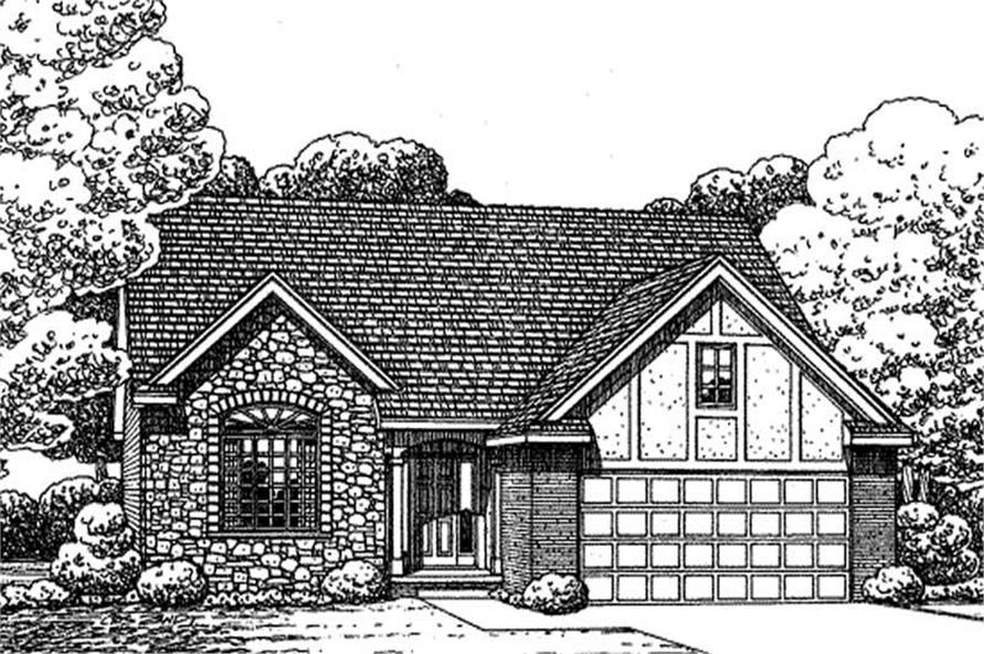 1-Bedroom, 1350 Sq Ft Small House Plans - 120-2143 - Main Exterior