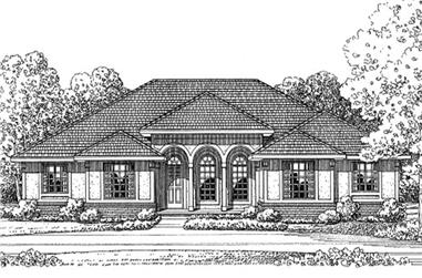 3-Bedroom, 2022 Sq Ft Country Home Plan - 120-2144 - Main Exterior