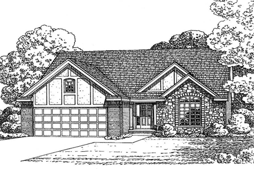 2-Bedroom, 1547 Sq Ft Historic Home Plan - 120-2146 - Main Exterior