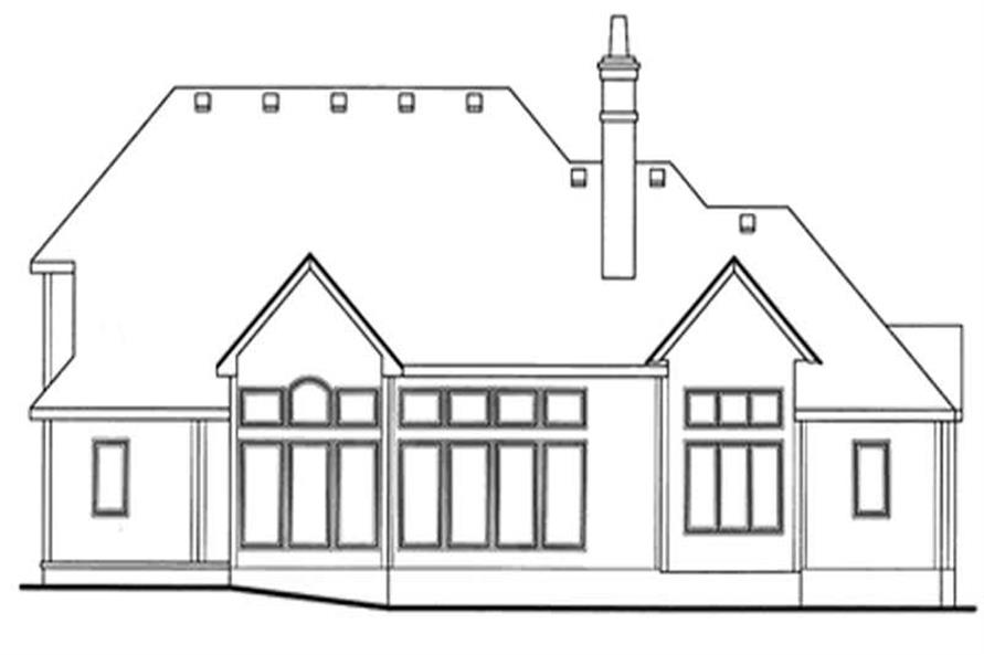 Home Plan Rear Elevation of this 4-Bedroom,3080 Sq Ft Plan -120-2148