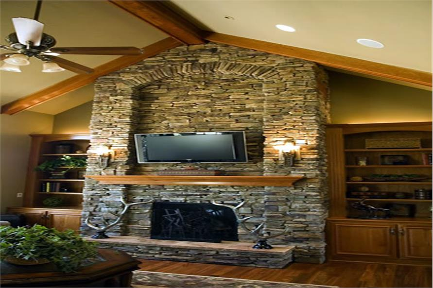 Great Room fireplace of this 4-Bedroom,3080 Sq Ft Plan -3080