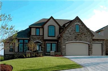 4-Bedroom, 3080 Sq Ft Country House Plan - 120-2148 - Front Exterior