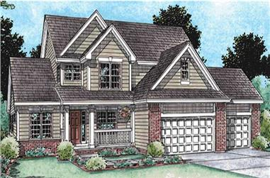 4-Bedroom, 2736 Sq Ft Country House Plan - 120-2149 - Front Exterior