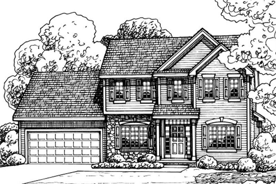 4-Bedroom, 2019 Sq Ft Traditional Home Plan - 120-2150 - Main Exterior