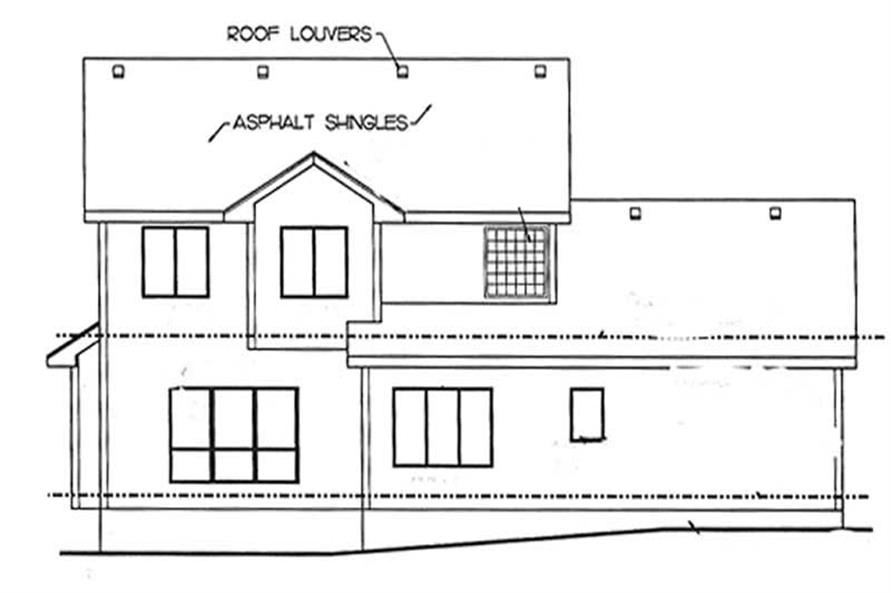 Home Plan Rear Elevation of this 4-Bedroom,2019 Sq Ft Plan -120-2150