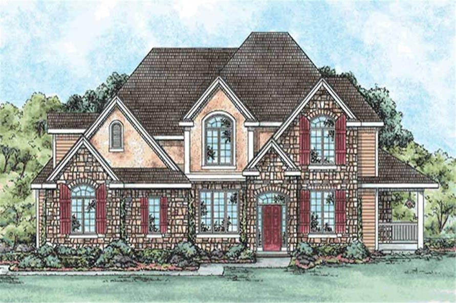 3-Bedroom, 3250 Sq Ft Traditional House Plan - 120-2158 - Front Exterior