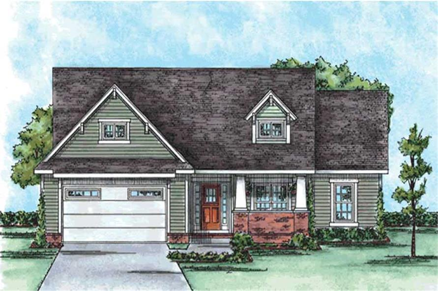 3-Bedroom, 1820 Sq Ft Cape Cod House Plan - 120-2159 - Front Exterior