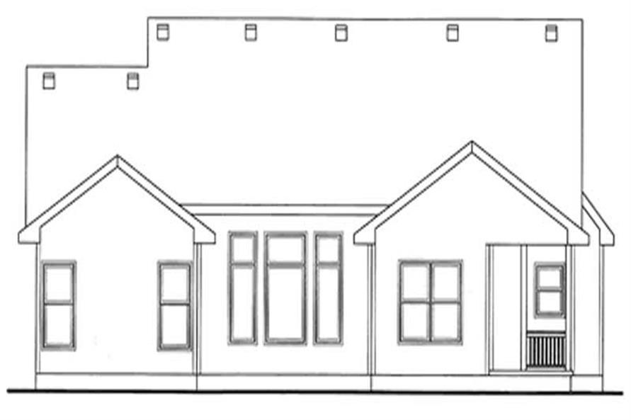 Home Plan Rear Elevation of this 3-Bedroom,1820 Sq Ft Plan -120-2159