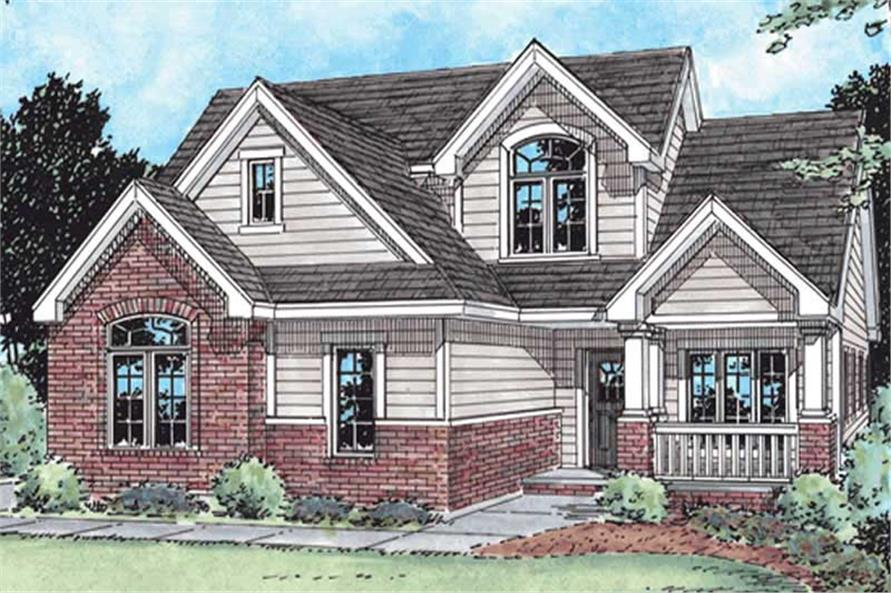 3-Bedroom, 2019 Sq Ft Traditional House Plan - 120-2160 - Front Exterior