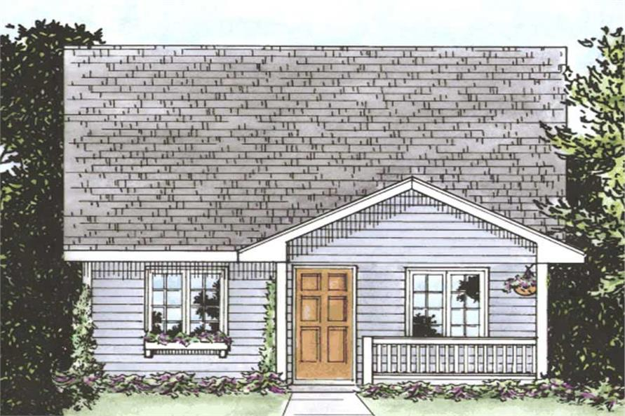 2-Bedroom, 1080 Sq Ft Small House Plans - 120-2162 - Front Exterior
