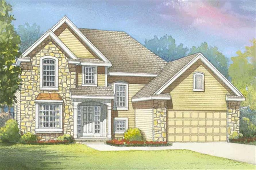 3-Bedroom, 1901 Sq Ft Traditional Home Plan - 120-2165 - Main Exterior