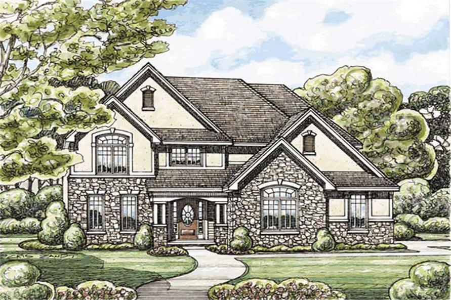 4-Bedroom, 2499 Sq Ft Traditional Home Plan - 120-2169 - Main Exterior