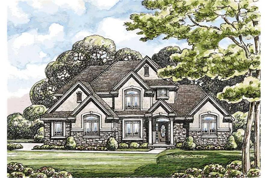 Home Plan Rendering of this 4-Bedroom,2999 Sq Ft Plan -120-2171