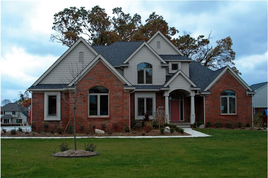 4-Bedroom, 2999 Sq Ft Traditional Home Plan - 120-2171 - Main Exterior