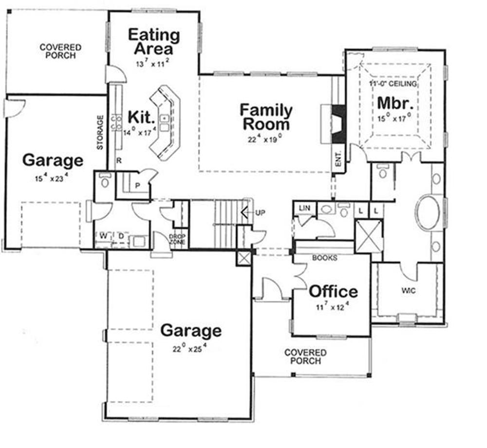120-2176 house plan first floor