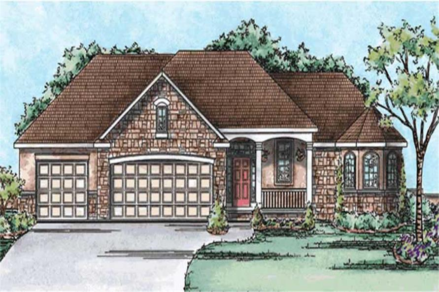 3-Bedroom, 2065 Sq Ft Country Home Plan - 120-2178 - Main Exterior