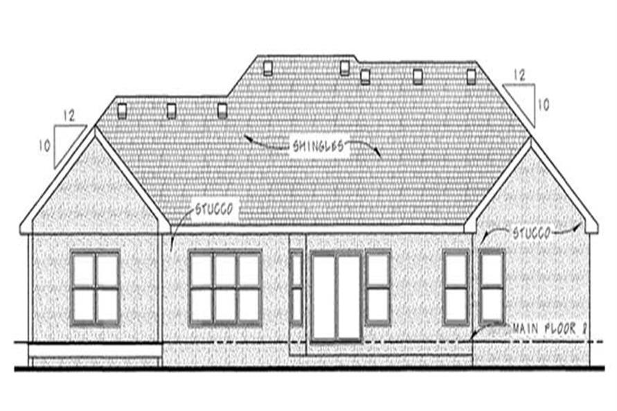 Home Plan Rear Elevation of this 3-Bedroom,2065 Sq Ft Plan -120-2178