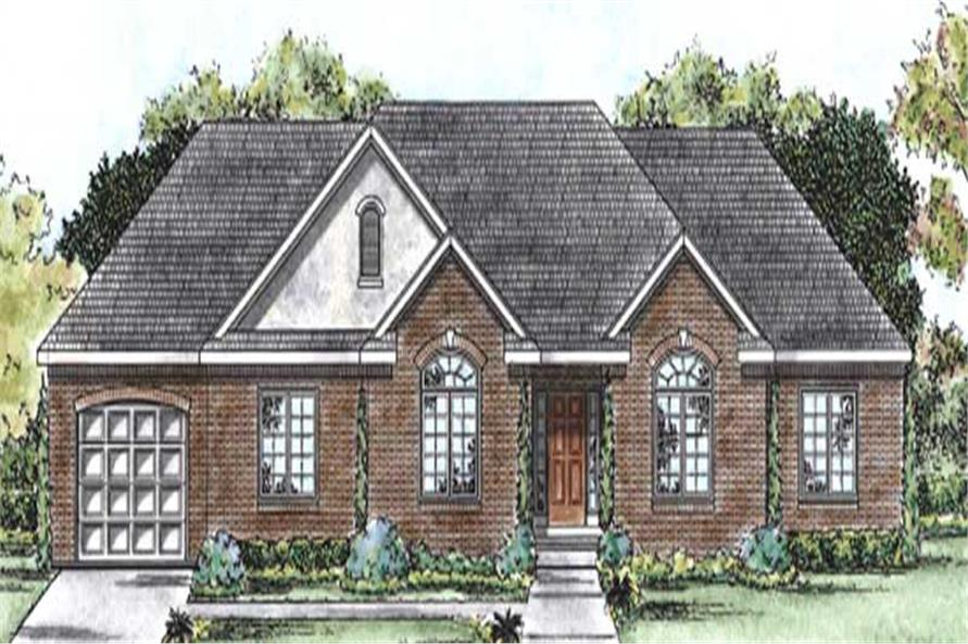 3-Bedroom, 2116 Sq Ft Ranch Home Plan - 120-2180 - Main Exterior