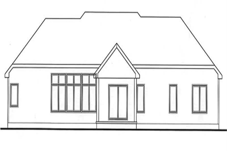 Home Plan Rear Elevation of this 3-Bedroom,2116 Sq Ft Plan -120-2180
