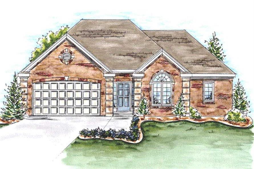 2-Bedroom, 1692 Sq Ft Ranch Home Plan - 120-2183 - Main Exterior