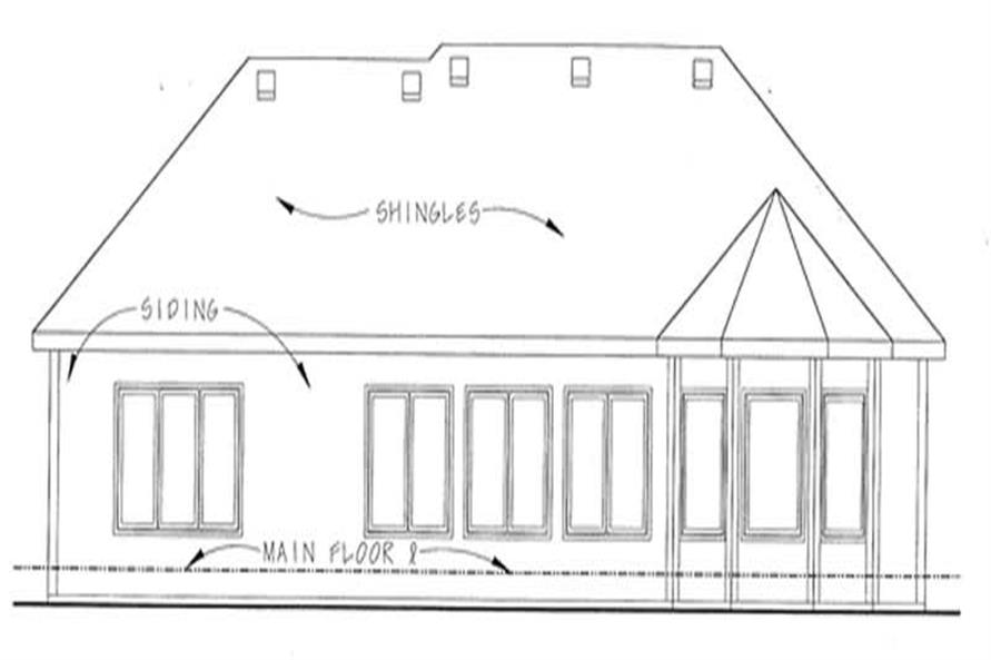 Home Plan Rear Elevation of this 2-Bedroom,1692 Sq Ft Plan -120-2183