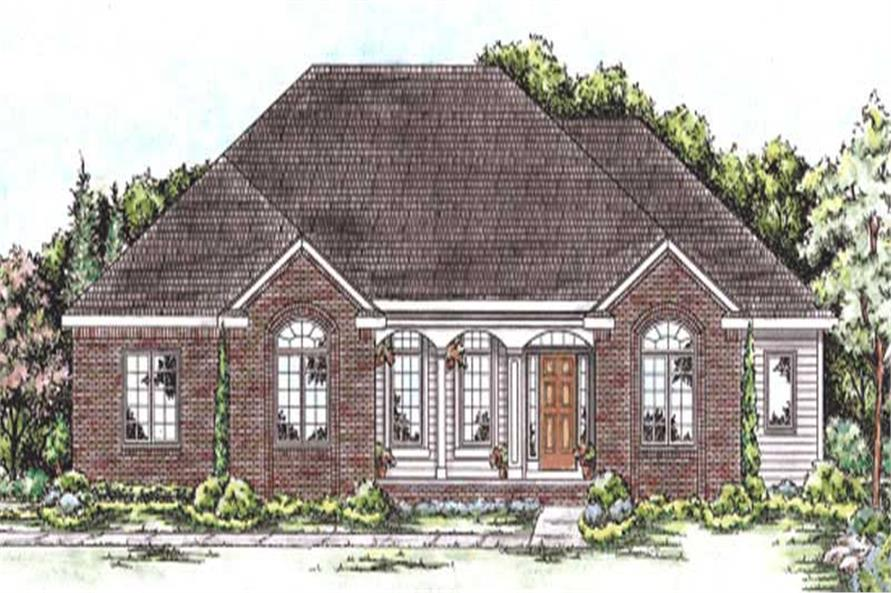 3-Bedroom, 2098 Sq Ft Country House Plan - 120-2191 - Front Exterior