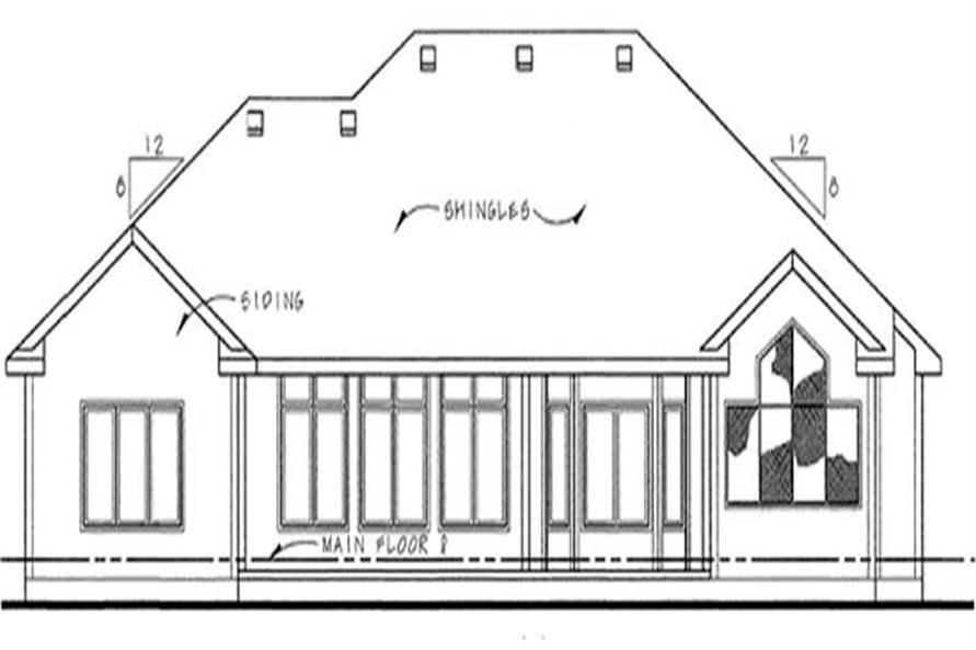 Home Plan Rear Elevation of this 3-Bedroom,2098 Sq Ft Plan -120-2191